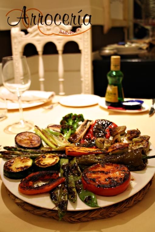 Parrillada de verduras de la huerta navarra