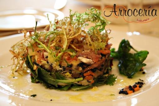 Ensalada de ahumados con verduritas templadas de temporada