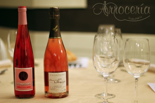 Los rosados de la noche. SONROJO 2010 Bodega La Calandria Champagne Pascal Doquet Rosé