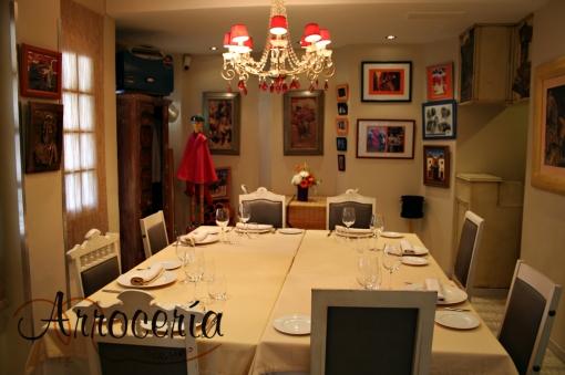 Comedor reservado de ambientación taurina, San Fermín 2011